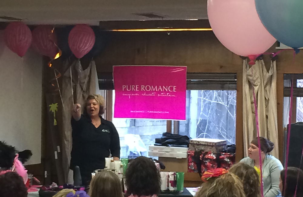 Speaker at a pure romance event