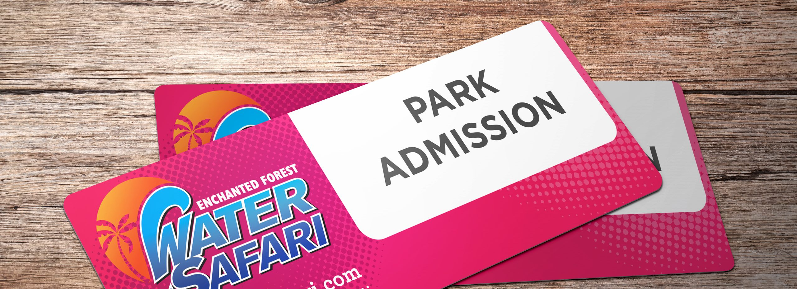 Tickets ready for park admission.