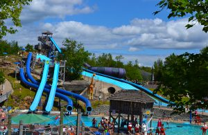Large water rides at water safari
