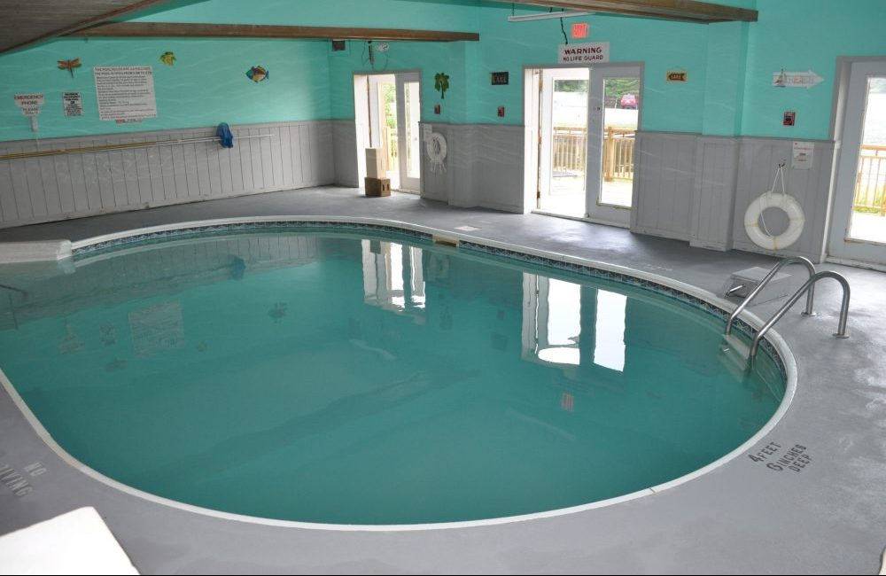An indoor pool